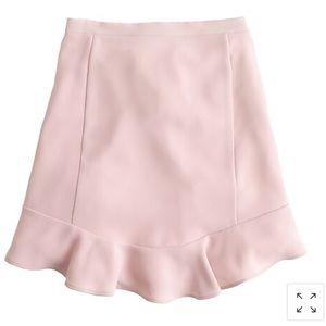 J.CREW Swing Skirt in Drapey Twill